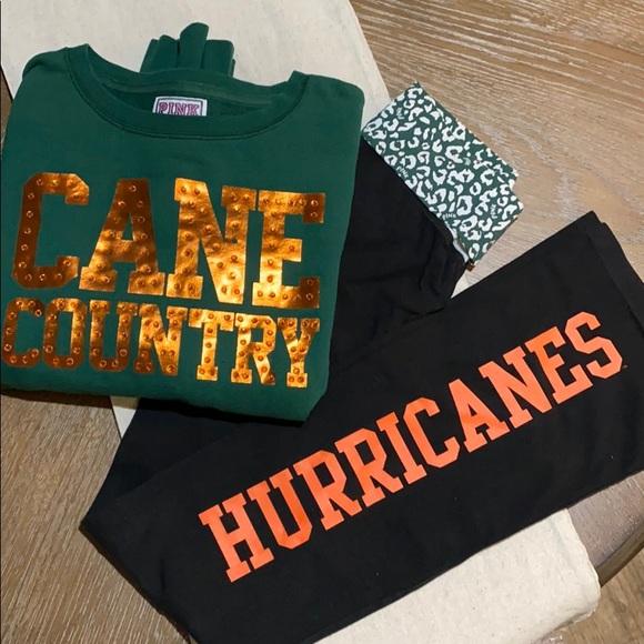 VS PINK Miami Hurricanes Set